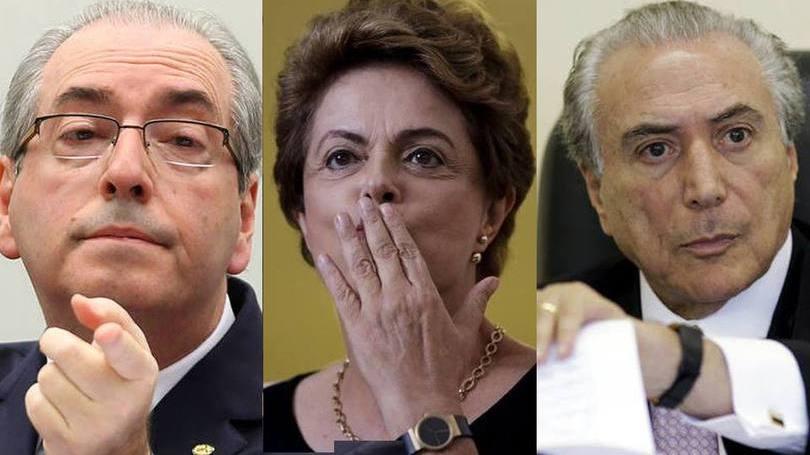 Em que pé estão os processos contra Cunha, Dilma e Temer